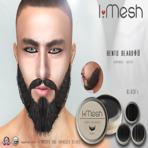 i.mesh beard#8 black AD