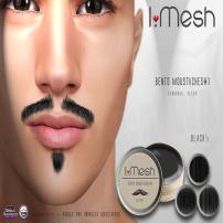 i.mesh - BENTO Moustaches#1 - BLACK ad