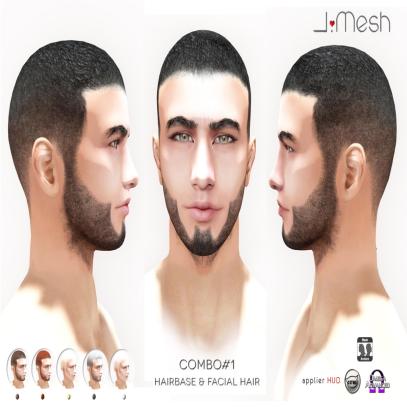 i.mesh - Combo#1- Hairbase and Facial Hair AD