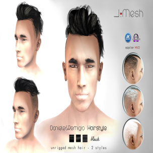 i.mesh - Dan&Rem hair BLACK AD