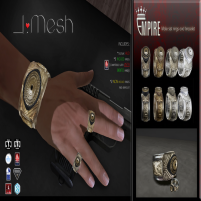 i.mesh - EMPIRE rings and bracelet AD