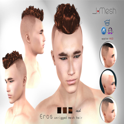 i.mesh Eros hair RED AD