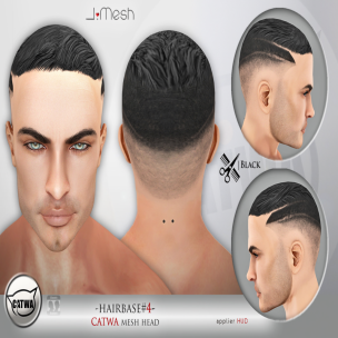 i.mesh - hairbase#4 BLACK ad