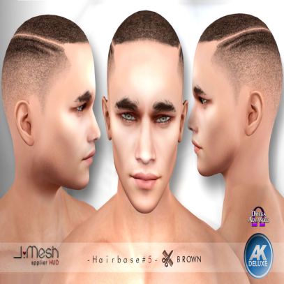 i.mesh - hairbase#5 BROWN - AK_omega AD