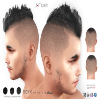i.mesh - Royk hair Black AD