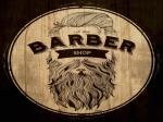 the barber shop logo