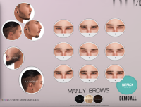 Unorthodox Manly brows