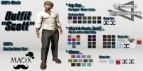 Outfit Scott (Cap, Shirt, Pants & Shoes)