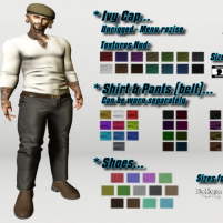 Outfit Scott (Cap, Shirt, Pants & Shoes)