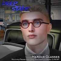 DEEP STATIC - Harold glasses ad