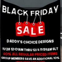 20191129 Black Friday Sales Daddy's choice