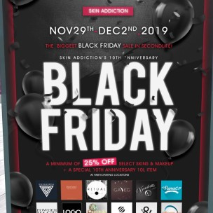 20191129 Black Friday Sales Skin Addiction