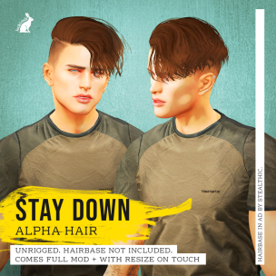 20191206 Manly Weekend Lock&Tuft - Stay Down Alpha Hair