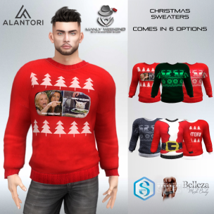 20191213 Manly Weekend ALANTORI - Christmas Sweater in 6 Colors MW
