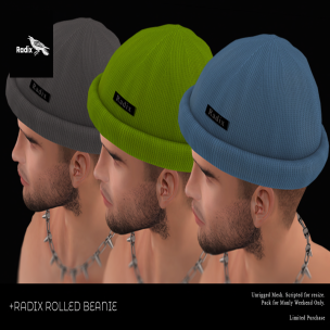 20191213 Manly Weekend +Radix - Rolled Beanie (Manly Weekend Edition)