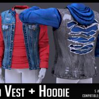 20200110 Manly Weekend Distress Vest+Hoodie AD SL