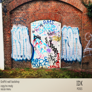 20200124 Manly Weekend .__IDK__. Graffiti wall backdrop