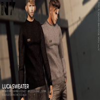 20200207 Manly Weekend NERO - LUCA SWEATER - Vendor -N7-