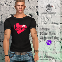 20200214 Manly Weekend E.Storm T-Shirt Male. Valentine's day