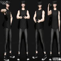 20200221 Manly Weekend kokoro poses - Leeteuk