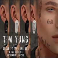20200221 Manly Weekend Tim Yung - Safety Tag Earring Ad