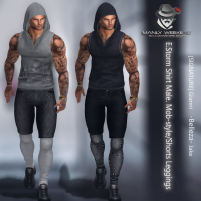 20200327 Manly Weekend E.Storm Shirt Male. Mob-style_Shorts Leggings