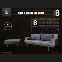 20200515 Manly Weekend Code 8 - Sofa And Single Sit (Adult)