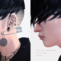 20200515 Manly Weekend [Dope + Mercy] Painless Earrings Set