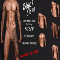20200529 Manly Weekend [BLACK] Tattoo Fallen Market