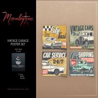 20200529 Manly Weekend Moonley Inc. - Vintage Garage Poster Set - Manly