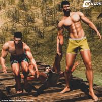 20200619 Manly Weekend _Cronos Poses_ Splash Vendor