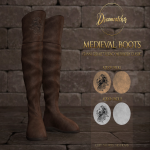 20200710 Manly Weekend +Dreamcatcher+ Medieval boots - Male _ Addon packs