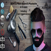 20200731 Manly Weeekend ALANTORI - Short BENTO Mesh Beard