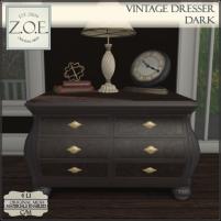 20200731 Manly Weeekend Z.O.E. Vintage Dresser Dark