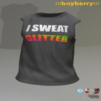 20200814 Manly Weekend boyberry glitter T
