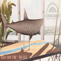 20200814 Manly Weekend wooden shark dark ad